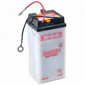 Batterie Plomb 6v 4Ah - L: 61 - l: 57 - H: 131mm + à droite pour motos (livrée sans acide)