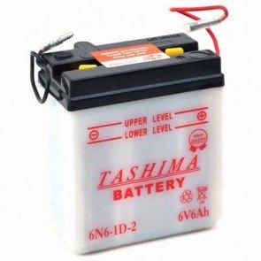 Batterie Plomb 6v 6Ah - L: 99 - l: 57 - H: 111mm + à droite pour motos (livrée sans acide)