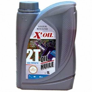 Huile 2 temps semi-synthèse X'OIL (API TC) - 1 litre