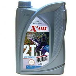 Huile 2 temps semi-synthèse X'OIL (API TC) - 2 litres