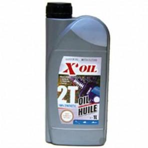 Huile 2 temps 100% synthèse X'OIL (API TC - JASO FC, FD) - 1 litre