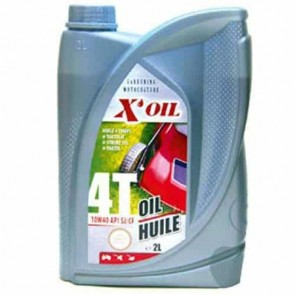 Huile 4 temps multigrade 10W40 X'OIL (API SJ/CF) - 2 litres