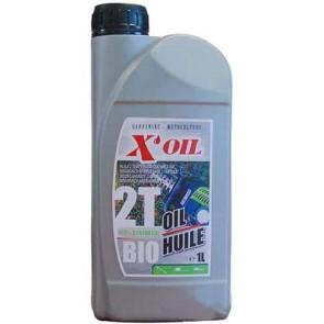 Huile X'OIL 2 temps 100% synthèse biodégradable en 1 litre pour tout Moteur 2 temps refroidis par eau