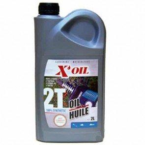 Huile 2 temps 100% synthèse X'OIL (API TC - JASO FC, FD) - 2 litres