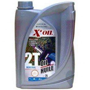 Huile 2 temps minérale X'OIL (API TC) - 2 litres