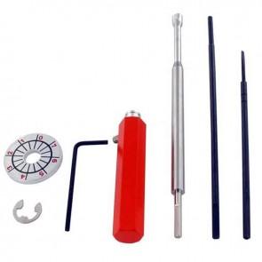 Kit pour réglage des carburateurs ECHO® et SHINDAIWA® composé d'un manche, de trois tiges spécifiques et d'une jauge de réglage
