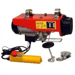 Palan électrique 230V - 510W, Puissance de levage : 125 / 250 Kg- Hauteur de levée : 12 / 6 m