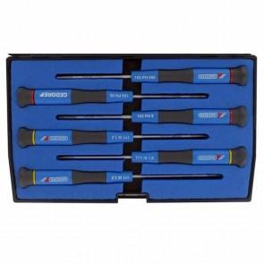 Coffret de 6 tournevis électroniques à lame anticorrosion