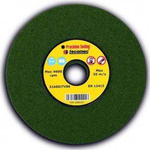 Meule d'affûtage TECOMEC 145X22,2X4,7mm.Qualité TENDRE.