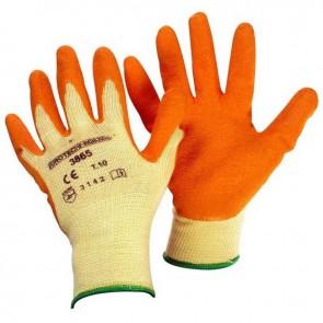 Paire de gants rosiers taille 10/L, en latex condensé sur support coton, pouce et index renforcés. Normes CE EN420 et EN388 - 4143