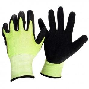 Gants en fibre de verre et SPANDEX enduit latex avec propriétés anti-vibration. Normes CE EN420 et EN388 - 3543
