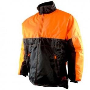 Blouson de bûcheronnage -Tissus enduit déperlant, imperméable, col polaire,2 poches- Norme CE EN381-11, Classe 1 - 20 m/s Taille L ( 54/56 )