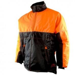 Blouson de bûcheronnage - Tissus enduit déperlant, imperméable, col polaire,2 poches- Norme CE EN381-11, Classe 1 -20 m/s Taille XL ( 58/60 )