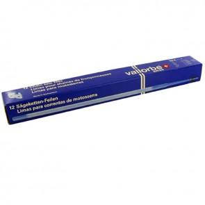 """Limes ronde VALLORBE pour chaîne de tronçonneuse. Ø: 3,6mm (9/64""""), L: 15cm (6""""). Conditionnement par 12"""