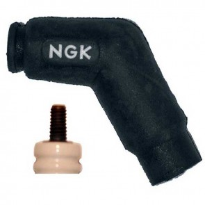 Antiparasite d'origine NGK 120° modèle VD05FMH. Résistance:5K-Ohms pour bougie d'allumages avec contacteur à vis.