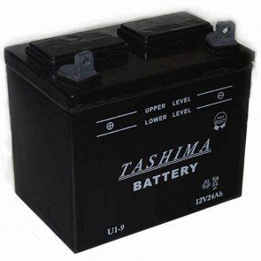 Batterie pour tondeuse autoportée 12v - 24Ah - L: 195 - l: 130 - H:185mm + à gauche (livrée sans acide)