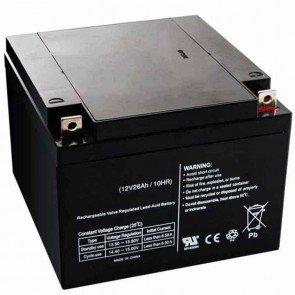 Batterie motoculture 12v - 26Ah - L: 165 - l: 175 - H: 125mm + à droite