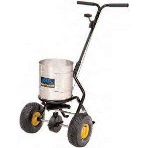 Epandeur à pousser semi-professionnel - Contenu max. 22 kg - Châssis thermolaqué - Bac en acier inox - Largeur de travail 1,2 - 3,7 m