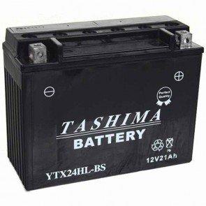Batterie Plomb haute performance sans entretien 12v 21Ah - L: 205 - l: 87 - H: 162mm + à droite pour motos motoneige utilitaire (livrée avec acide séparé)