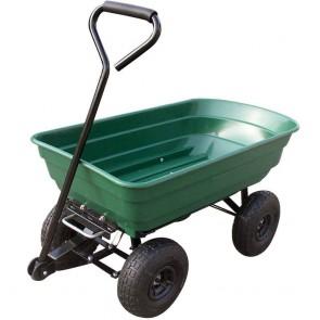 Chariot de jardin avec bac plastique basculant - 250 kg
