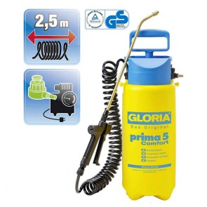 GLORIA 91 - Pulvérisateur à compression en polyéthylène PRIMA5 - Comfort - 5 L - 3 bars
