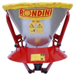 RONDINI SP150 Epandeur d'engrais PRO à cardan et agitateur - cuve galvanisée 149 litres - de 6 à 14 mètres