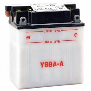 Batterie plomb renforcée 12V 9Ah - L: 135 - l: 75 - H: 155mm + à gauche pour motoneige quads (livrée sans acide)
