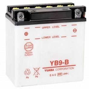 Batterie plomb renforcée 12V 9Ah - L: 135 - l: 75 - H: 139mm + à gauche Pour scooter motos (livrée sans acide)